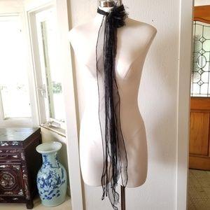 Accessories - Chiffon Flower Scarf Headband or Belt